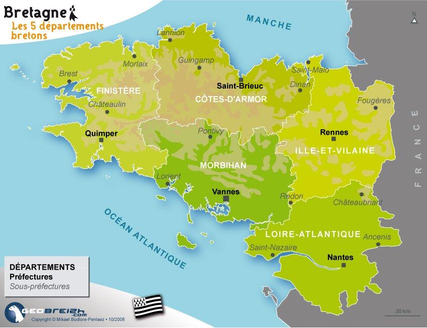 Carte De Bretagne Archive At Breizh